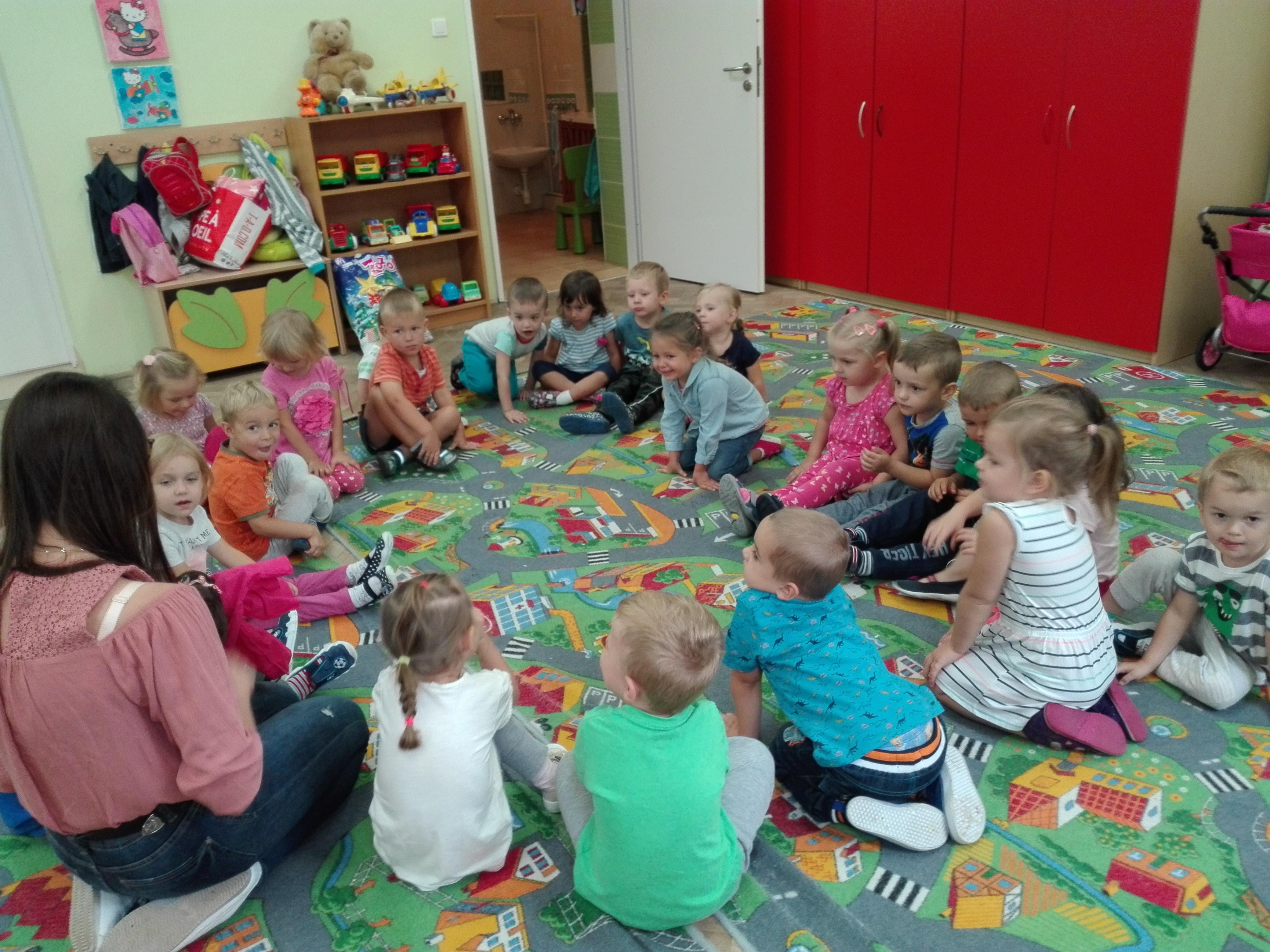 Pierwsze dni w przedszkolu- grupa Misie