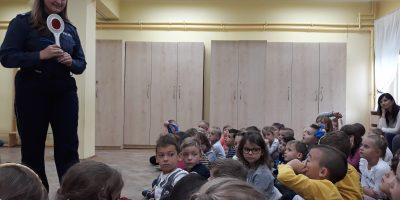 Bądź bezpieczny- wizyta policjantki w przedszkolu