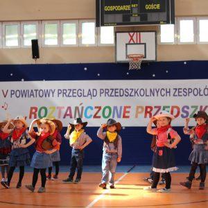 V Powiatowy Przegląd Przedszkolnych Zespołów Tanecznych.