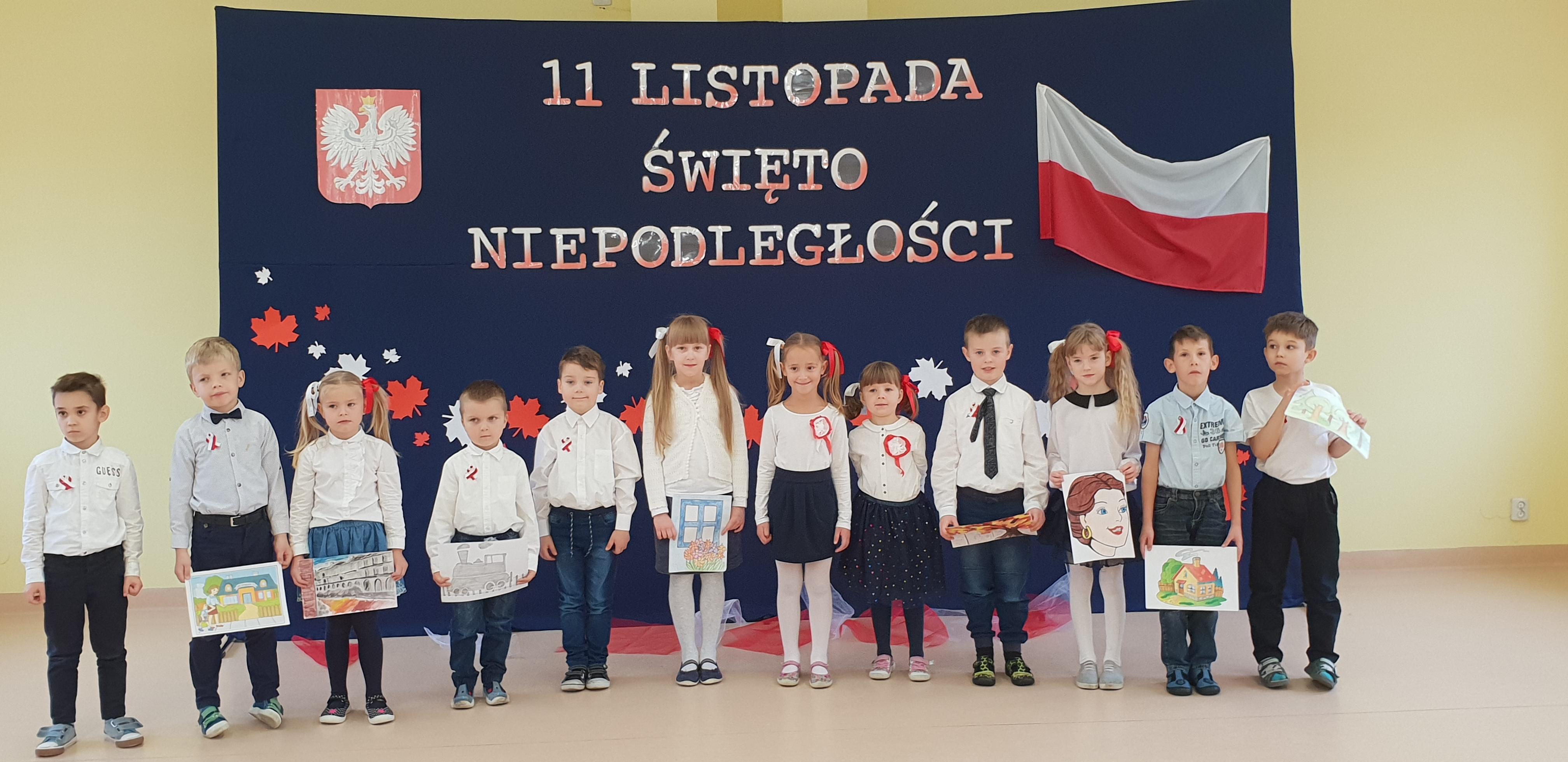 Święto Niepodległości Polski- obchody w II siedzibie przedszkola.