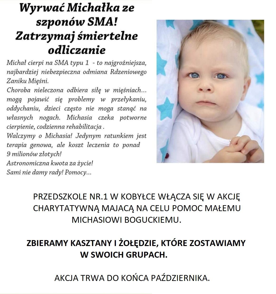 Akcja charytatywna – pomoc małemu Michasiowi Boguckiemu