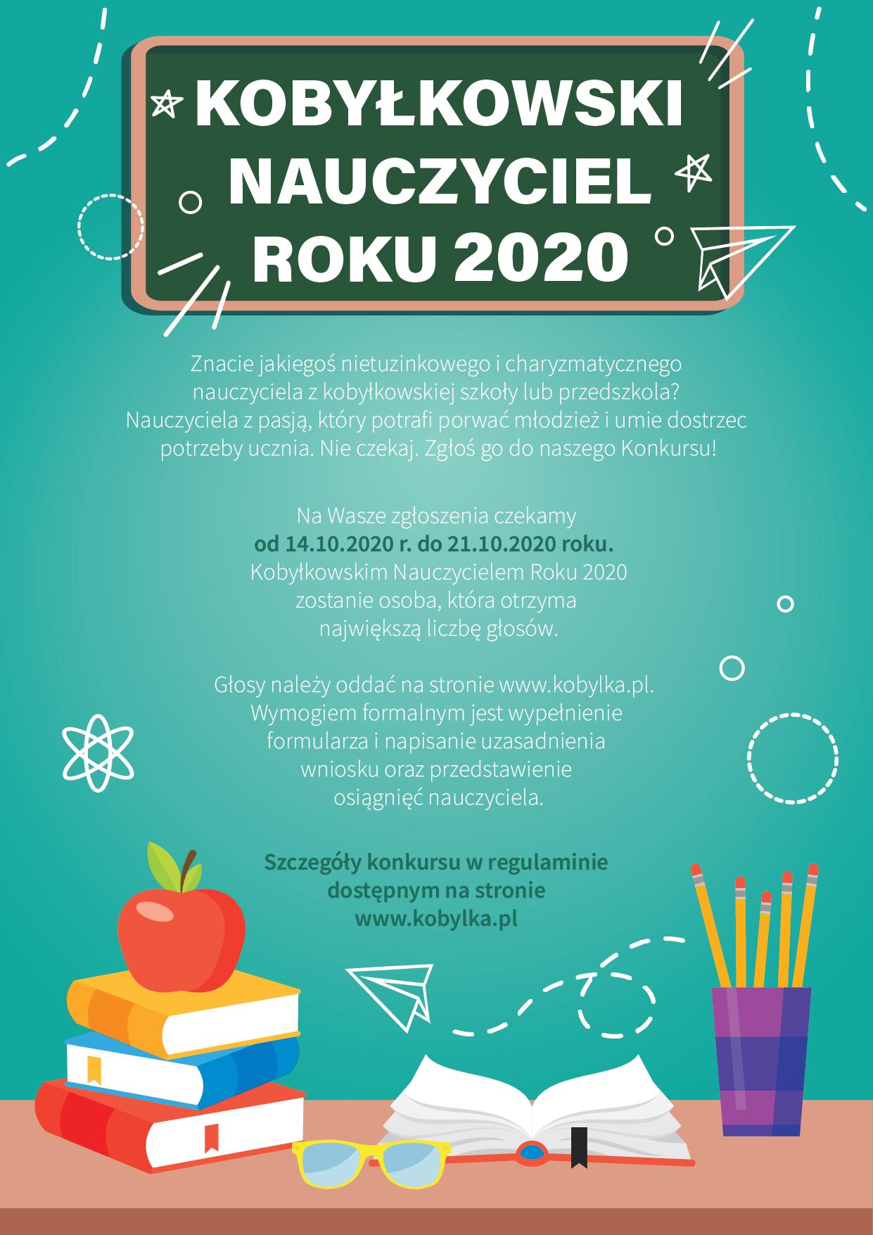 Konkurs – Kobyłkowski Nauczyciel Roku 2020