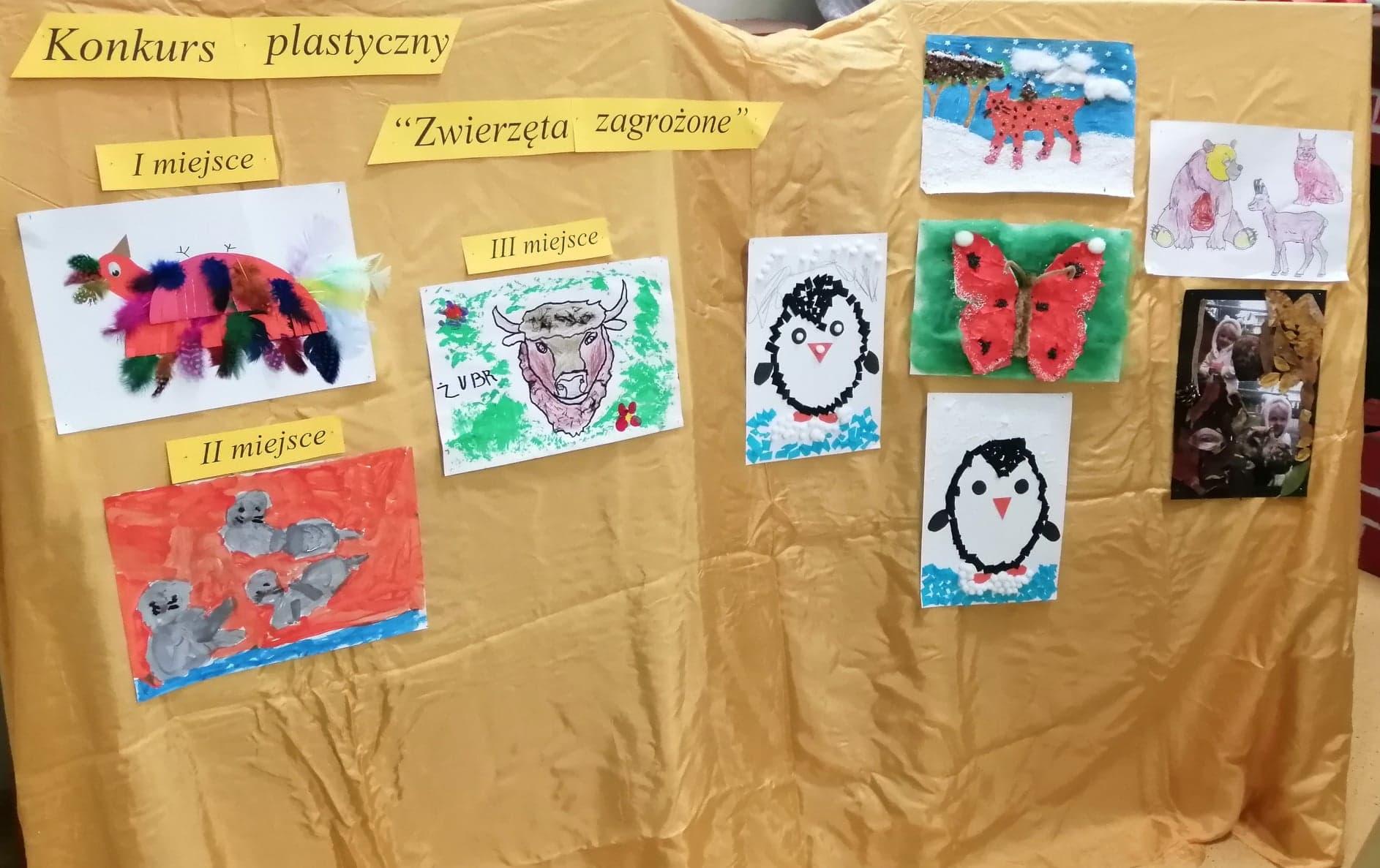 """Miedzyprzedszkolny konkurs plastyczny """"Zwierzęta zagrożone"""" rozstrzygnięty."""