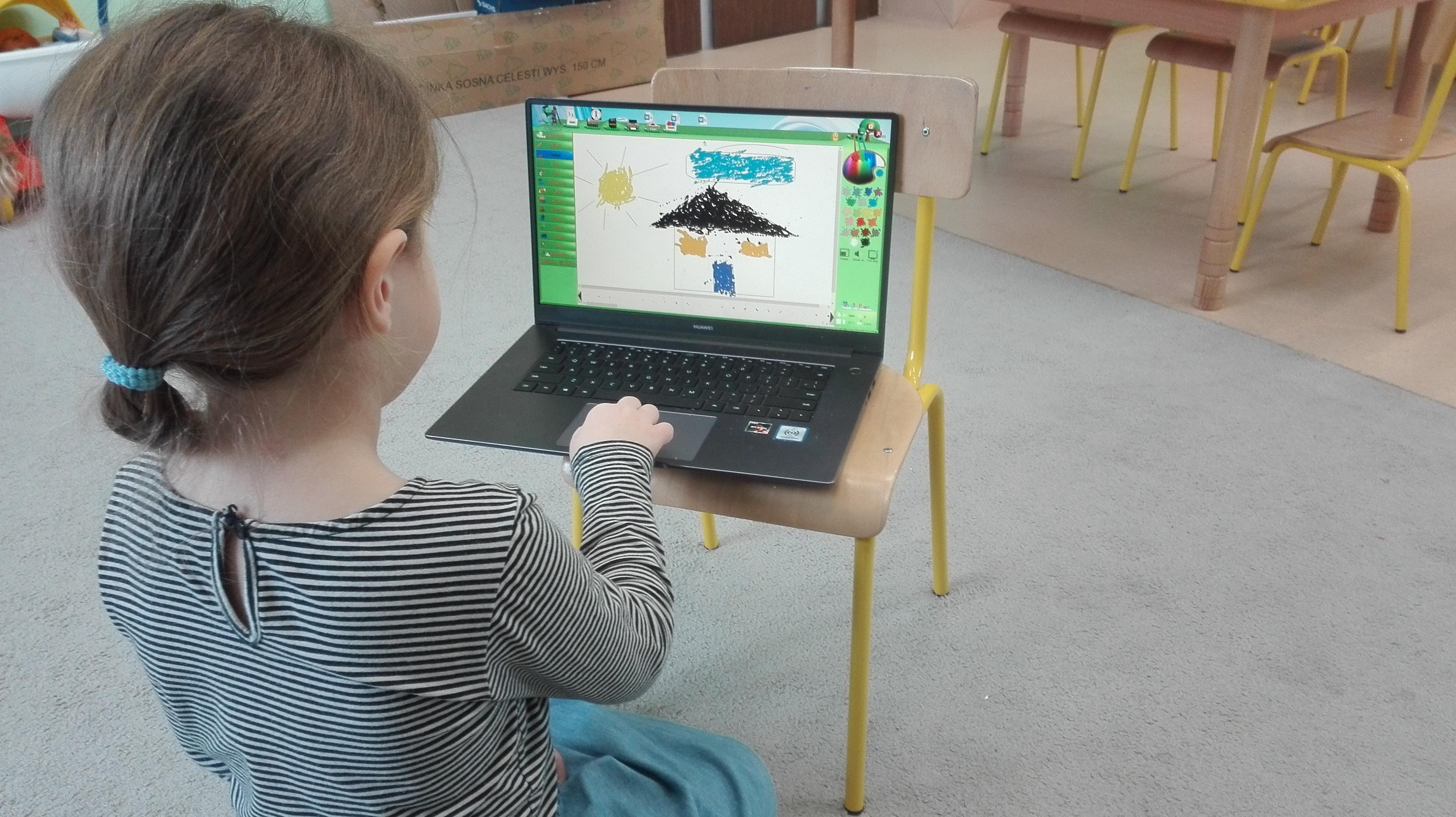 Rysowanie, malowanie na ekranie-Tygryski