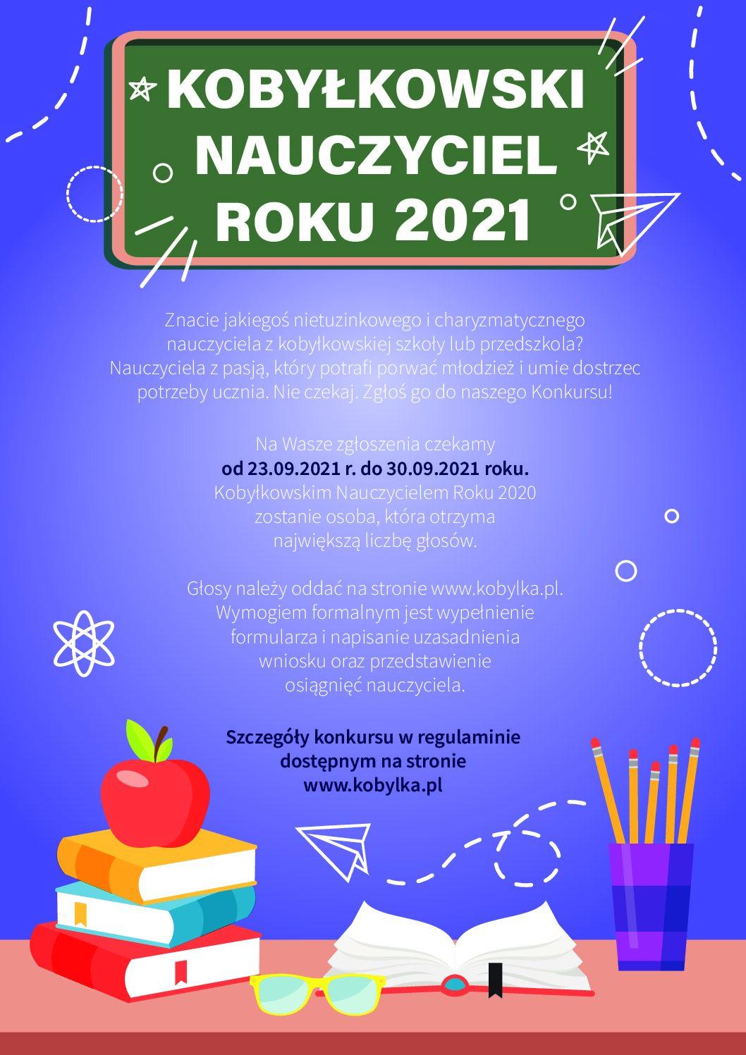 KOBYŁKOWSKI NAUCZYCIEL ROKU 2021